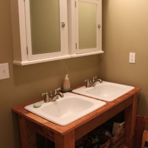 Pine Barnwood Bathroom Vanity