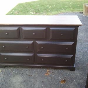 Seven Draw Barnwood Dresser in Black
