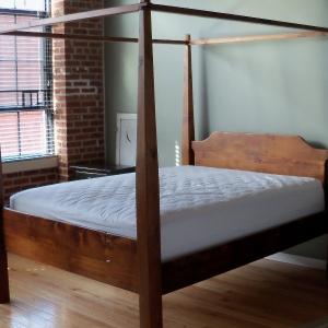 Reclaimed Barnwood Canopy Bed
