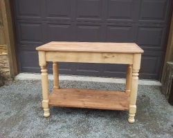 Unfinished Barnwood Vanity Base