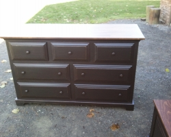 Seven Draw Barnwood Dresser in Black