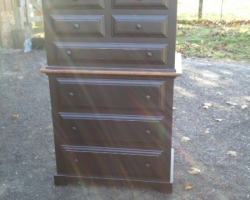 Tall Barnwood Dresser in Black