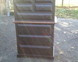 Tall Barnwood Dresser in Black