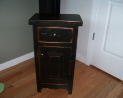 Barnwood Nightstand in Black