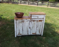 White Washed Barnwood Bathroom Vanity