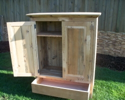 Custom Barnwood Armoire for Child