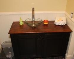 Barnwood Bathroom Vanity in Black