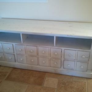 Reclaimed pine buffet with custom doors/drawers