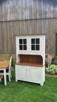 Custom hutch with reclaimed Chestnut upgrades