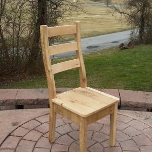 Modern Rustic ladderback Barnwood Chair