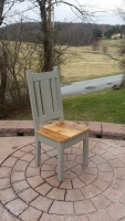 Rustic ladder back modern Misson Chair