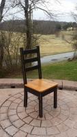 Original Rustic Reclaimed Oak Ladder back