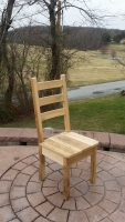 Rustic Ladderback with Curved Rungs