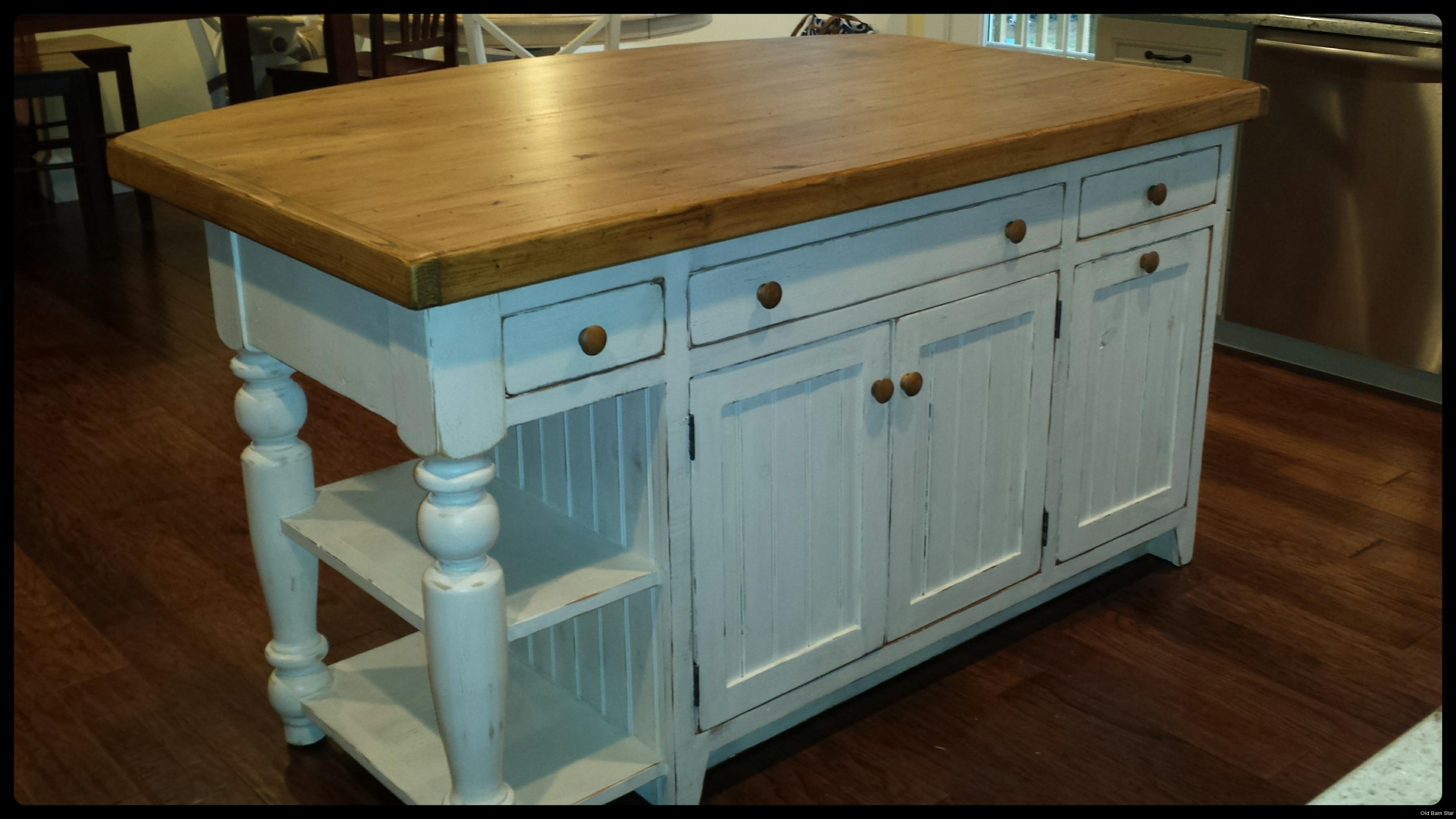 Custom Wood Kitchen Islands amish-made kitchen islands | reclaimed wood kitchen island