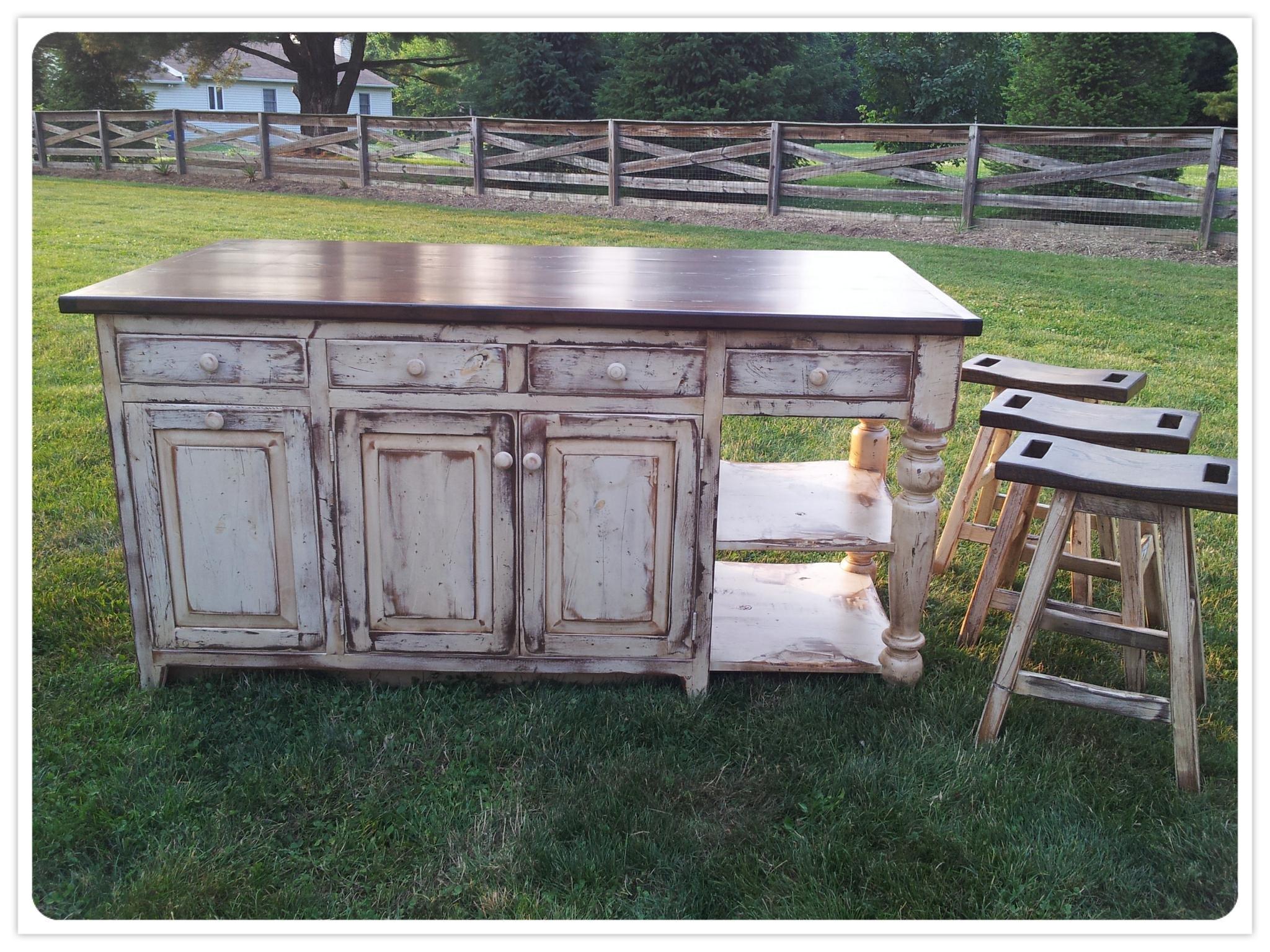 Old Barn Star Amish Made Kitchen Islands