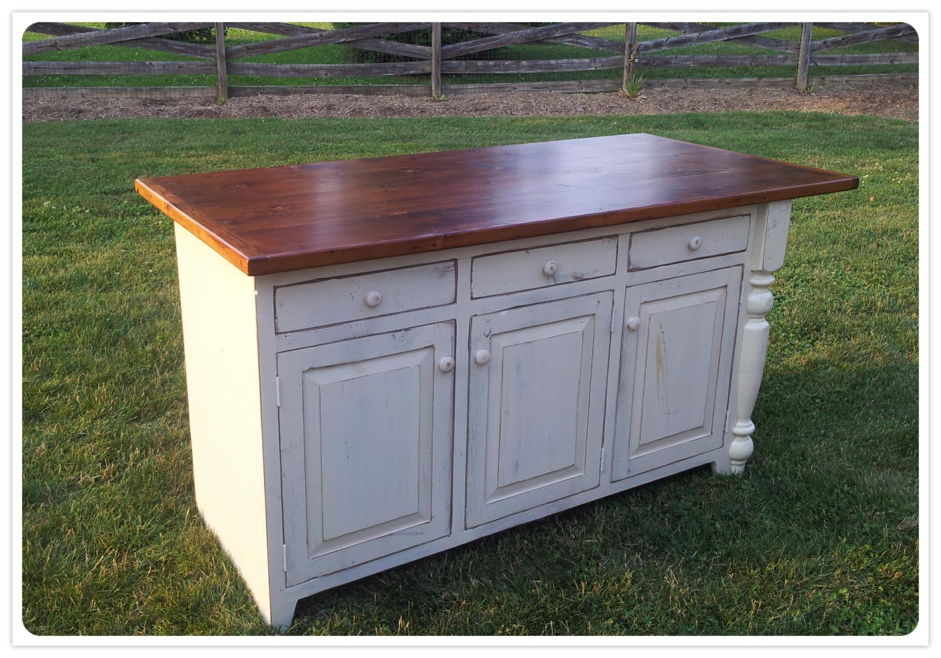 Amish Made Kitchen Island Table
