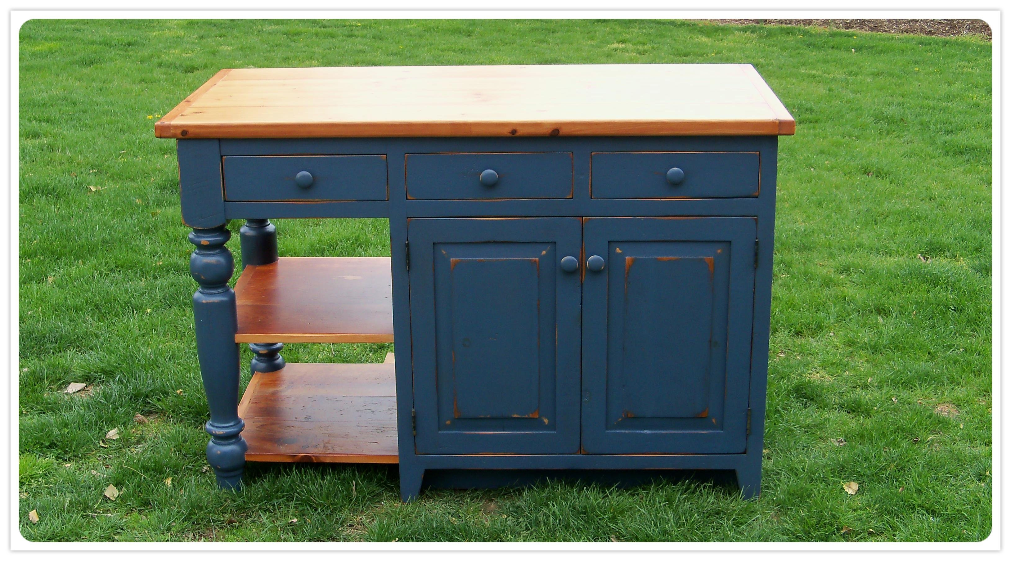 amish-made kitchen islands | reclaimed wood kitchen island