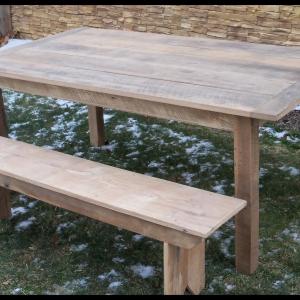 5 ft thin top Oak table loose board