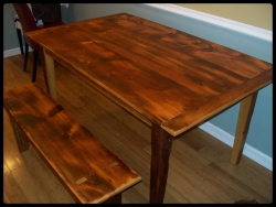 5 ft pine table