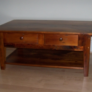shaker coffee table with drawers