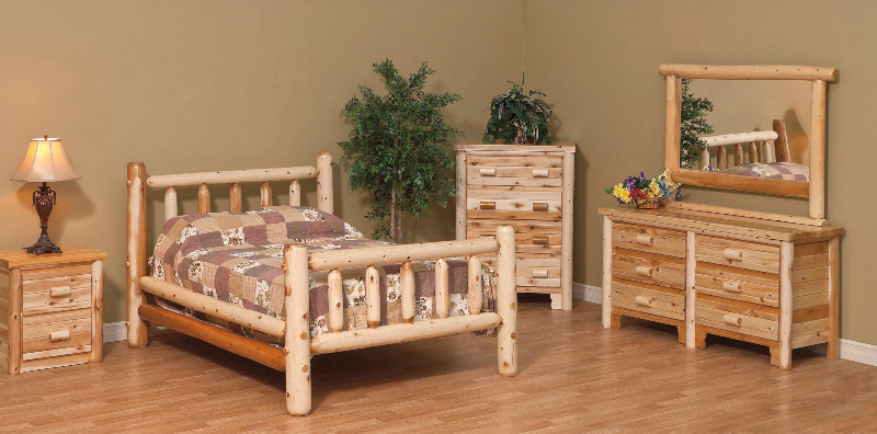 White Cedar Log Furniture | White Cedar Chests, Beds and Tables