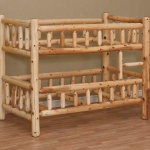 Rustic Log Bunk Bed