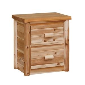 Rustic Log Nightstand