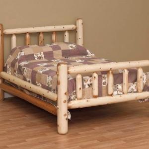 Rustic White Cedar Log Bed