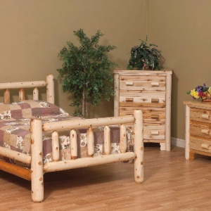 Rustic Log Bedroom Set