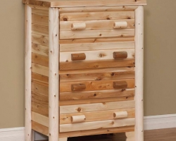 Rustic Log 4 Drawer Chest