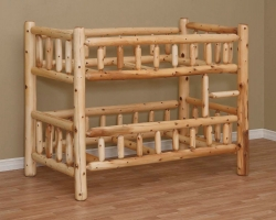 Rustic Log Bunk Bed