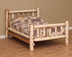 Rustic White Cedar Log Bed