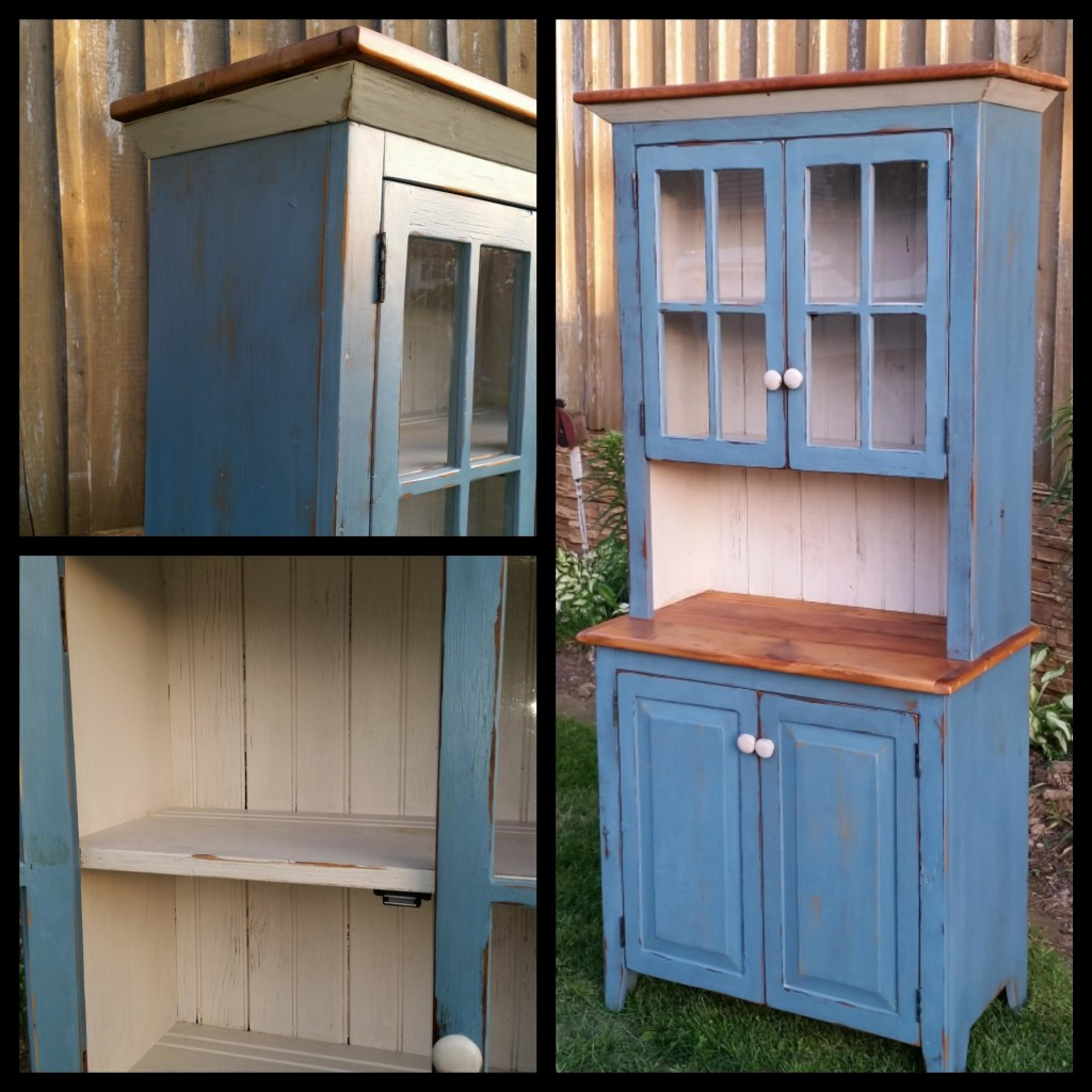 Blue Hutch 73tall x18deepx32 wide
