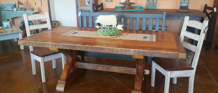 Amish Made Reclaimed Barn Wood Farnhouse Furniture Old