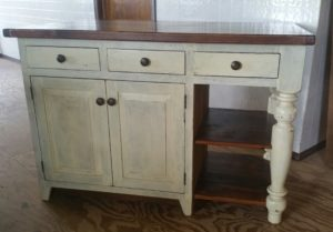 Reclaimed Pine Farm hbouse Kitchen Island