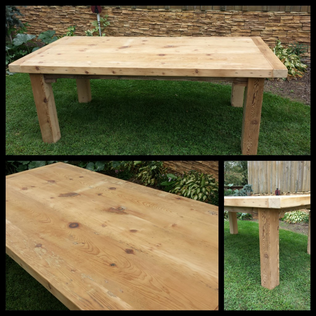 8 FT Extra Thick Look Reclaimed Pine Farm House Table $995.00 Unfinished.  BACK IN STOCK 2 Available. Check Out Our Leg Options Page For Additional  Style ...