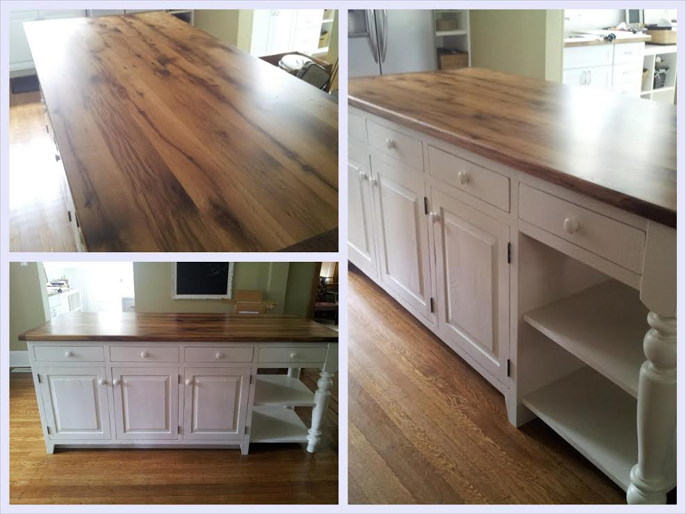 reclaimed kitchen island Archives - Old Barn Star