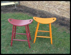 barnwood stool