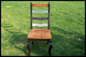 rustic barnwood chair