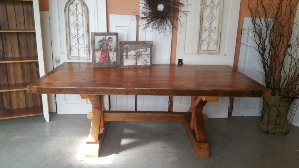 7ft Reclaimed Pine Barnwood Farmhouse Table $1350.00